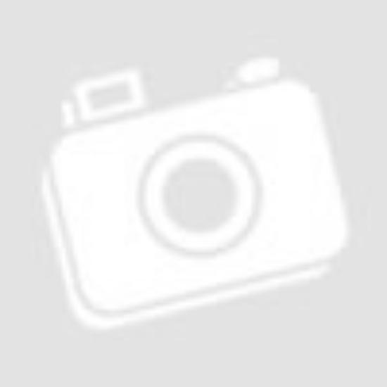 Ekrü színű függöny alul hullámos bordűr, hímzett  virágmintával